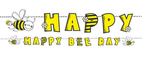 "Girlande ""Happy Bee Day"""